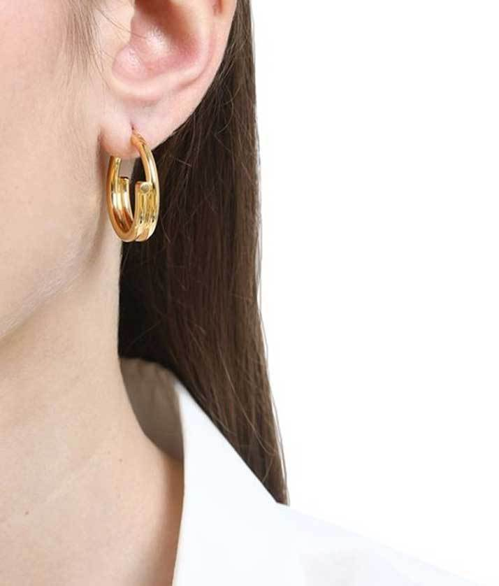Maria Black Chance Mini Gold Hoop Earrings Jewelry Maria Black