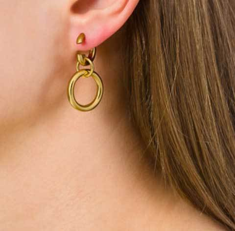 Maria Black Dogma Double Hoop Gold Earrings Jewelry Maria Black