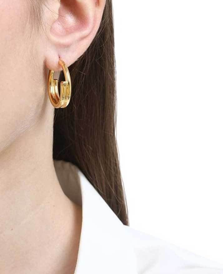 Maria Black Genie Hoop Gold Hoop Earrings Jewelry Maria Black