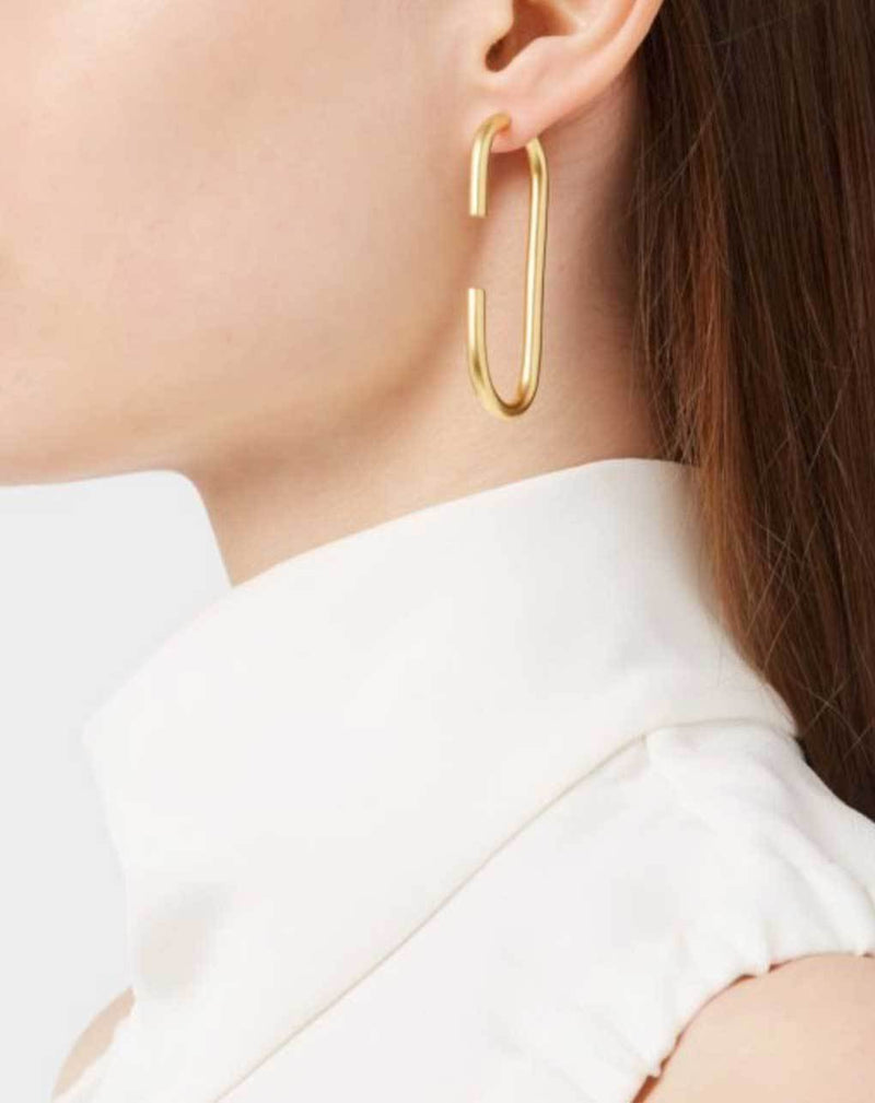 Maria Black Vertical Gold Earrings Jewelry Maria Black