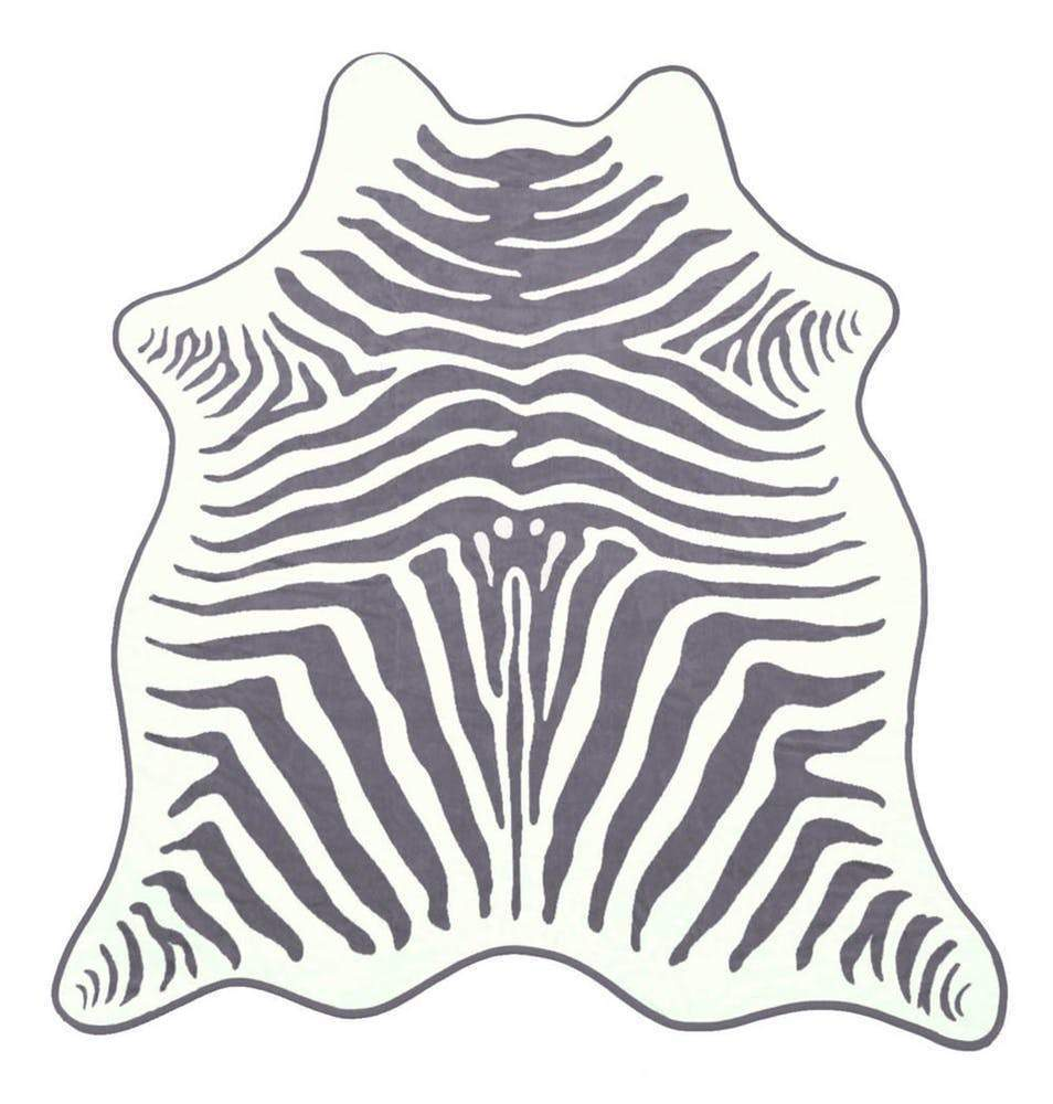 Maslin Grey Zebra Beach Towel with Holster beach towel MASLIN
