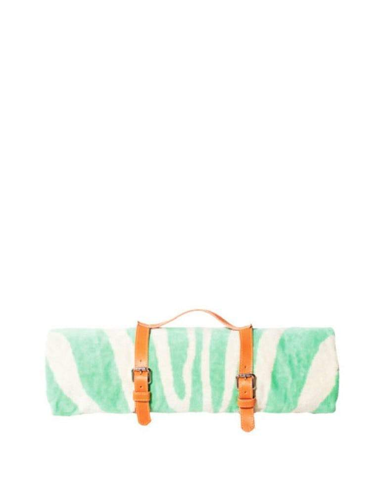 Maslin Mint Zebra Beach Towel with Holster beach towel MASLIN