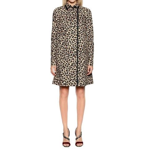No. 21 coat 46 / Leopard No. 21 Leopard Print Coat