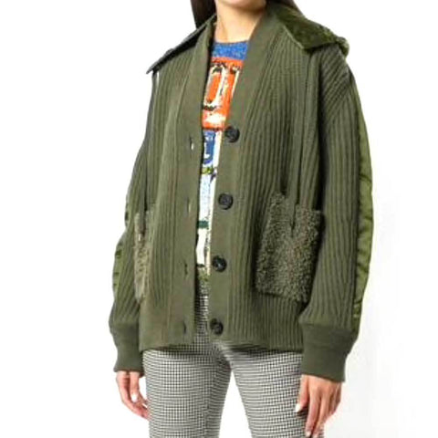 No. 21 Jackets 42 / Green No. 21 Chucky Knit Bomber Jacket