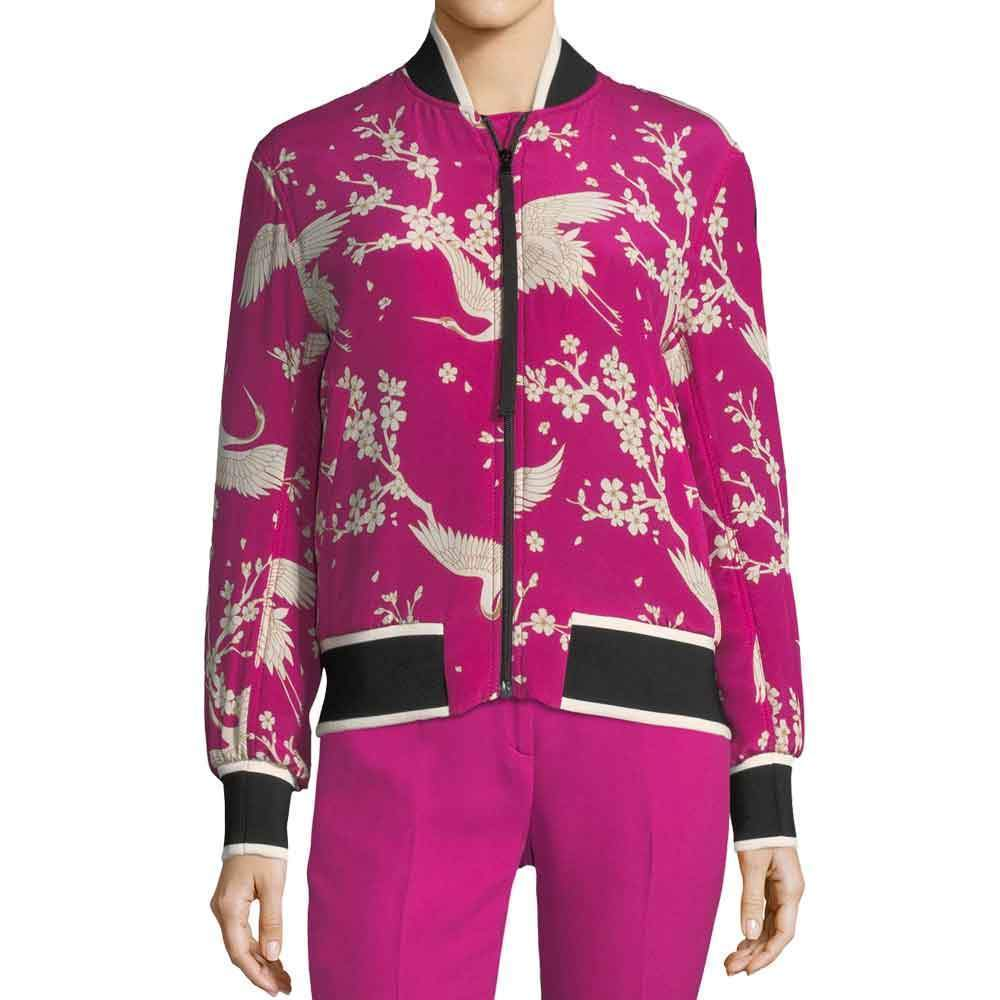 No. 21 Fuchsia Printed Bomber Jacket Pants No. 21
