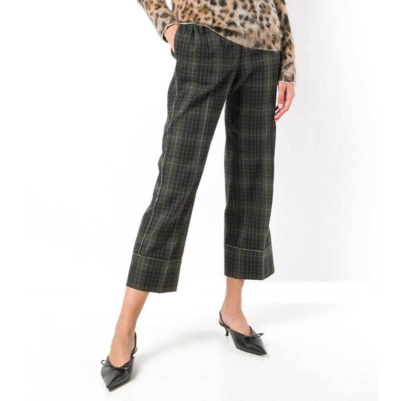 No. 21 Plaid Cropped Pants Pants No. 21
