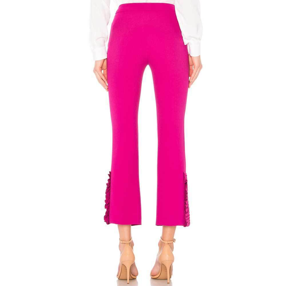 No. 21 Fuchsia Tapered Ruffle Pants Pants No. 21
