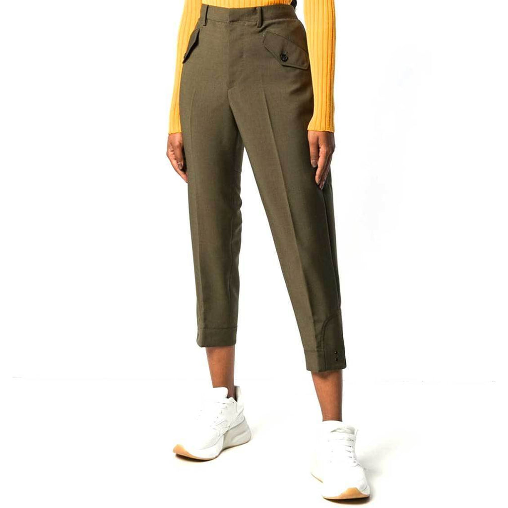 No. 21 Khaki Cropped Pants Pants No. 21