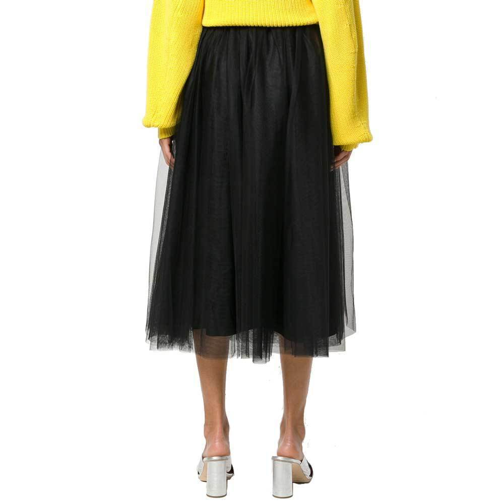 No. 21 Gabi Black Embellished Tulle Midi Skirt Skirt No. 21