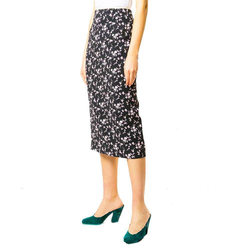 No. 21 Floral Print Midi Pencil Skirt Skirt No. 21