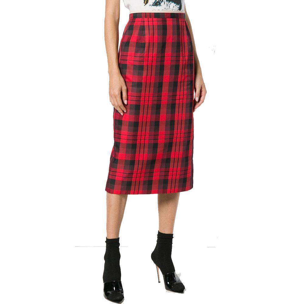 No. 21 Tartan Midi Pencil Skirt Skirt No. 21