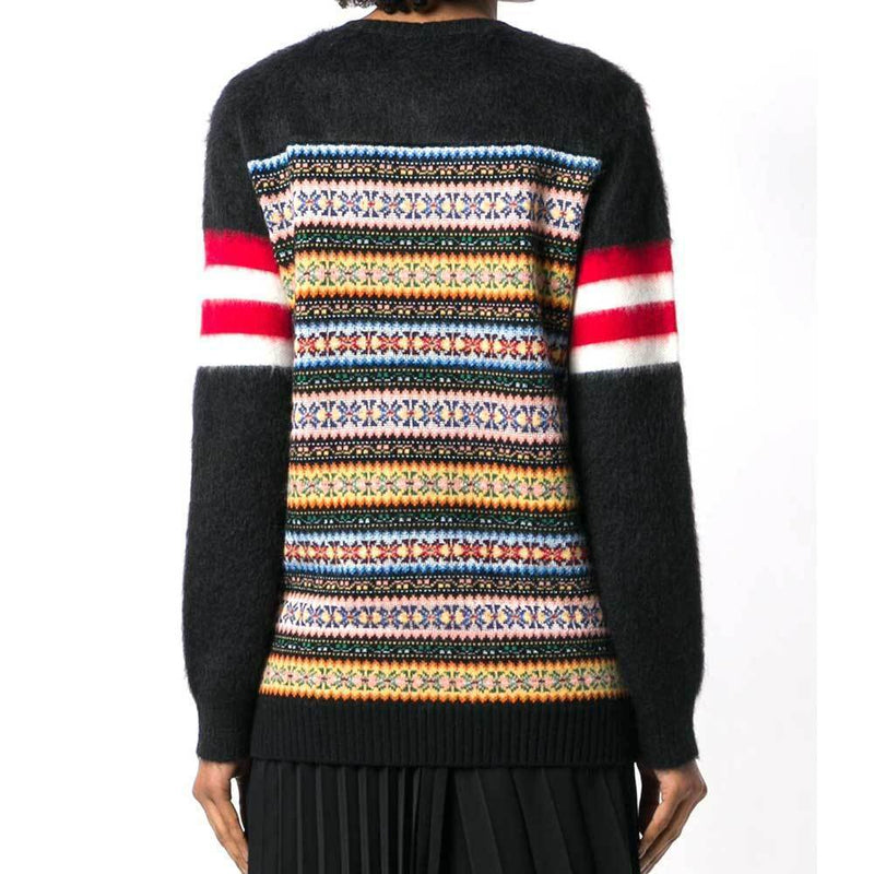 No. 21 Striped Jacquard Knit Sweater Sweater No. 21