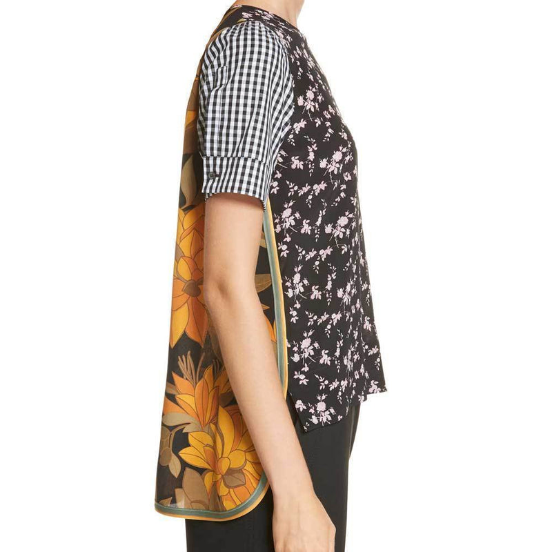 No. 21 Patchwork Print Top Tops No. 21