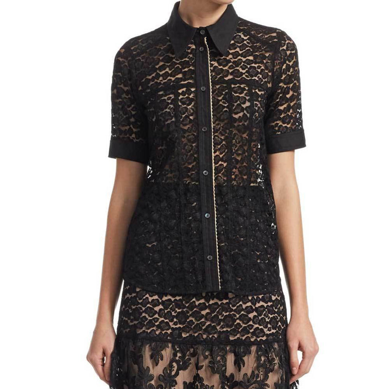 No. 21 Black Lace Blouse Tops No. 21