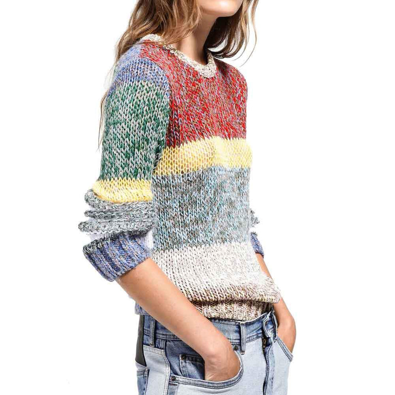 No. 21 Color Block Striped Sweater Sweater No. 21