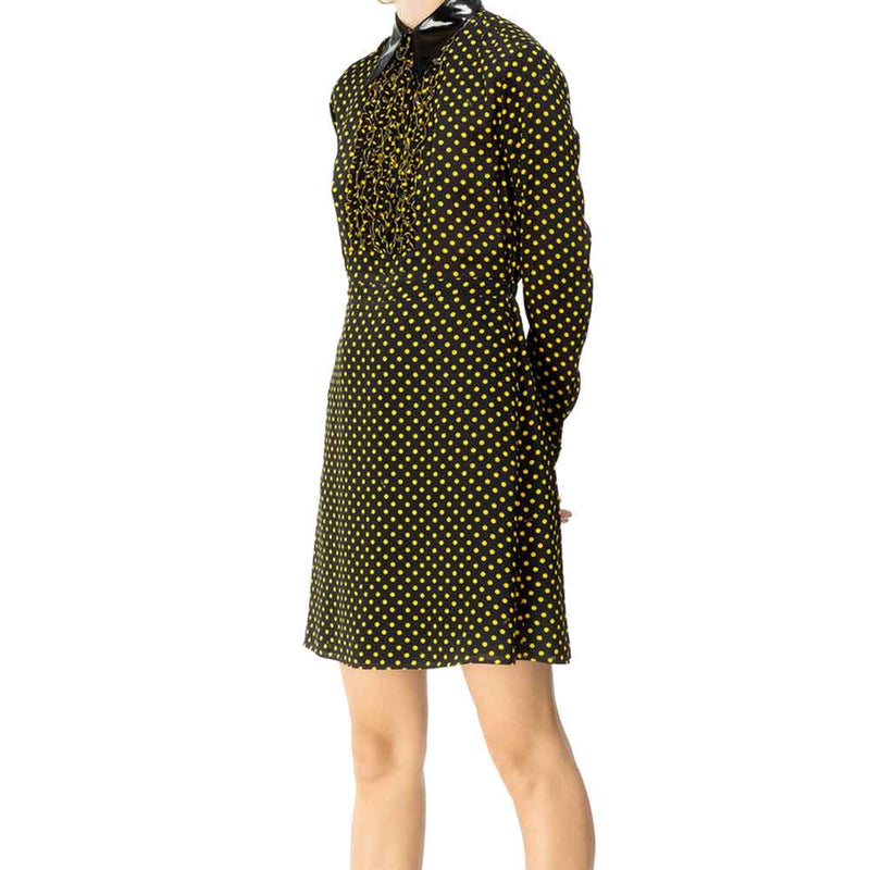 No. 21 Polka-Dot Vinyl Collar Dress