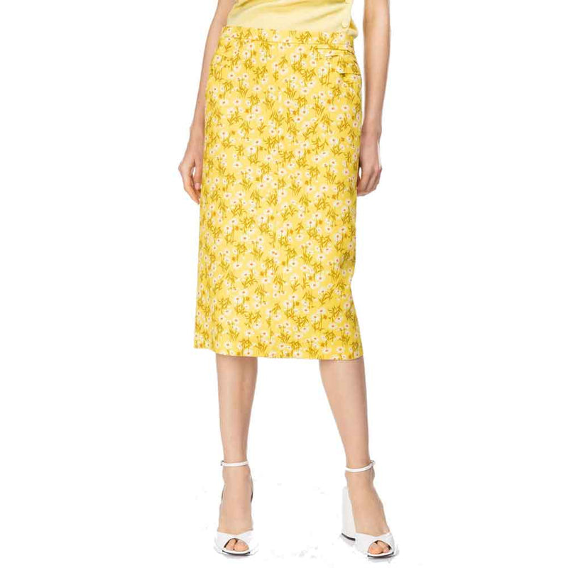 Yigal Azrouel Long Trellis-Print Halter Dress