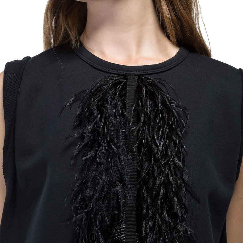 No. 21 Ostrich Feather Knit Top Tops No. 21