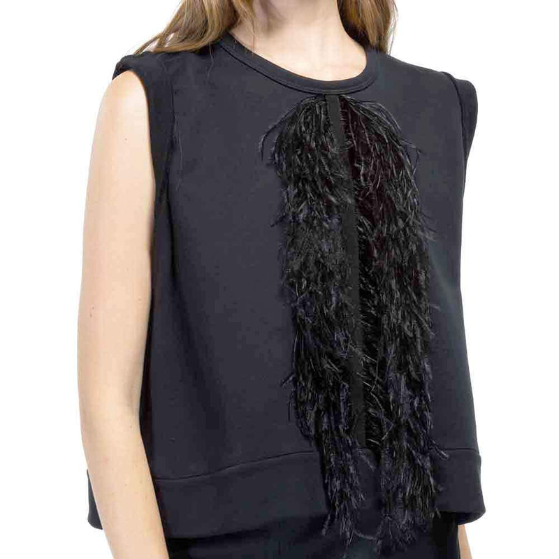 Adam Lippes Silk Charmeuse Sleeveless Cowl Neck Top