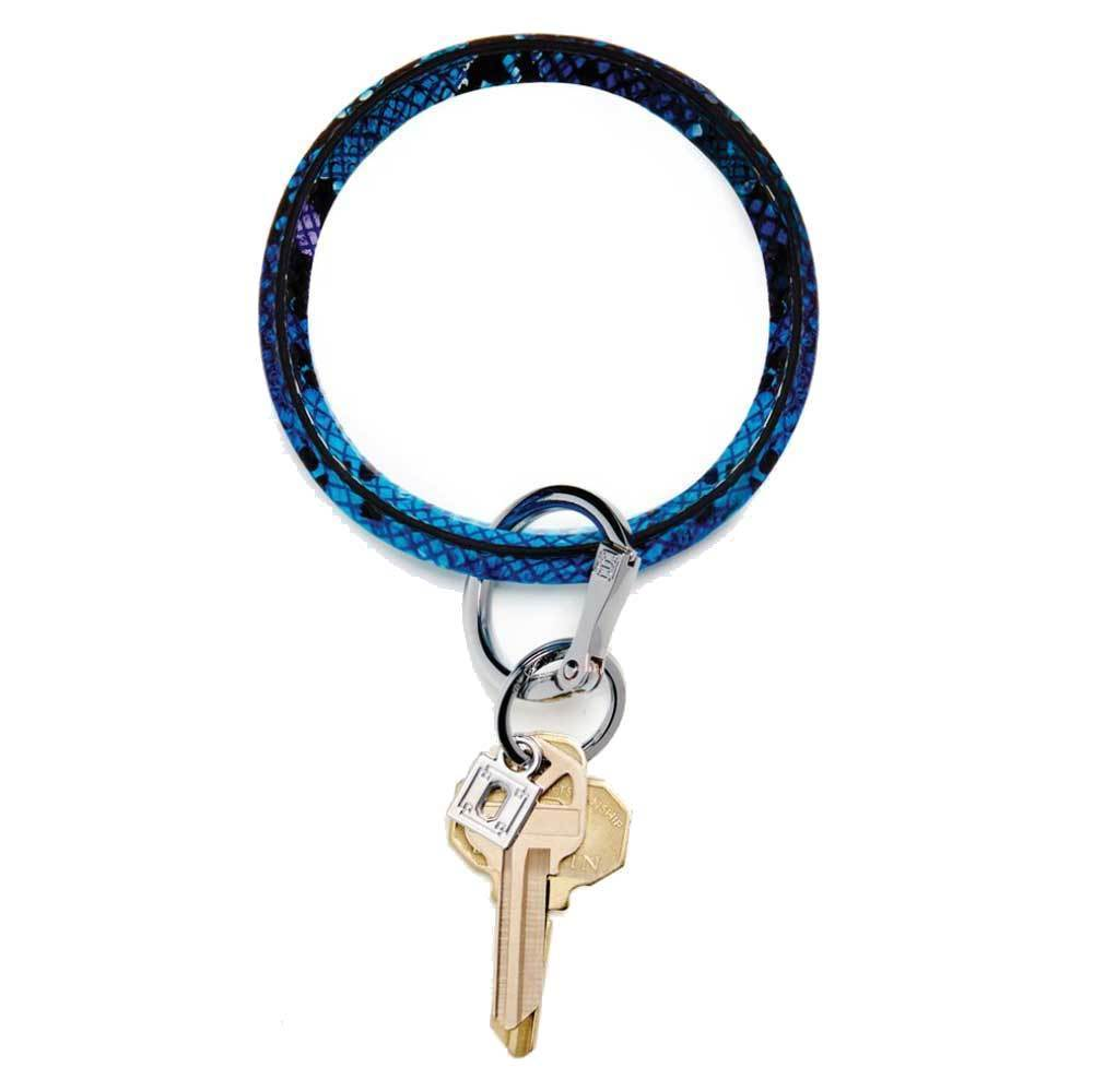 O-Venture Big O Key Ring - Blue Lagoon Snakeskin Accessories O-Venture
