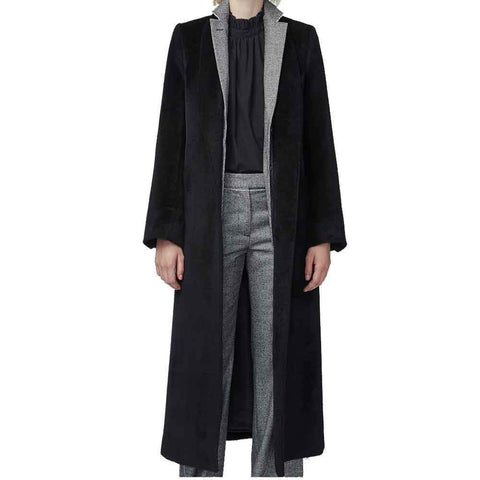 Officine Generale coat 40 / BLACK Officine Generale Lydia Long Alpaca Coat