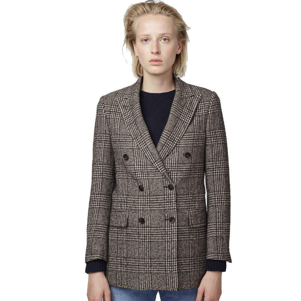 Officine Generale Manon Houndstooth Blazer Jackets Officine Generale