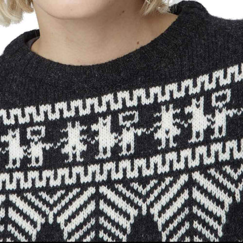Officine Generale Sweater M / Black and White Officine Générale Anna Patterned Sweater