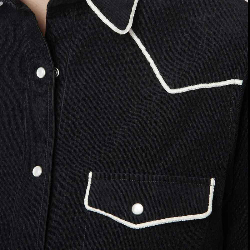Officine Generale Felice Corduroy Piped Shirt tops Officine Generale