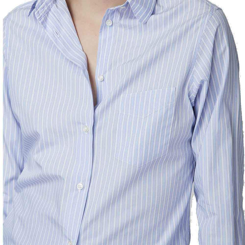 Officine Generale tops M / BLUE/WHITE Officine Generale Gab Italian Twill Shirt