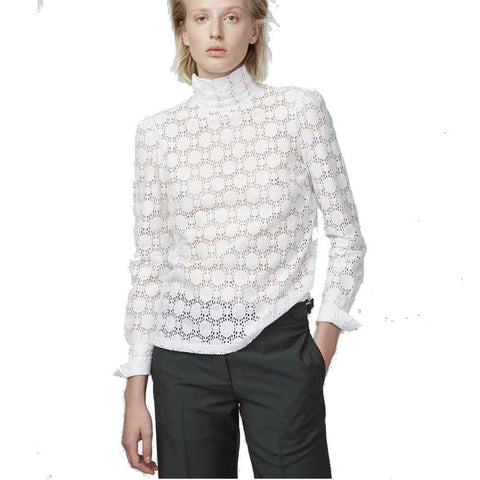 Officine Generale tops M / WHITE Officine Generale Jade Lace Top