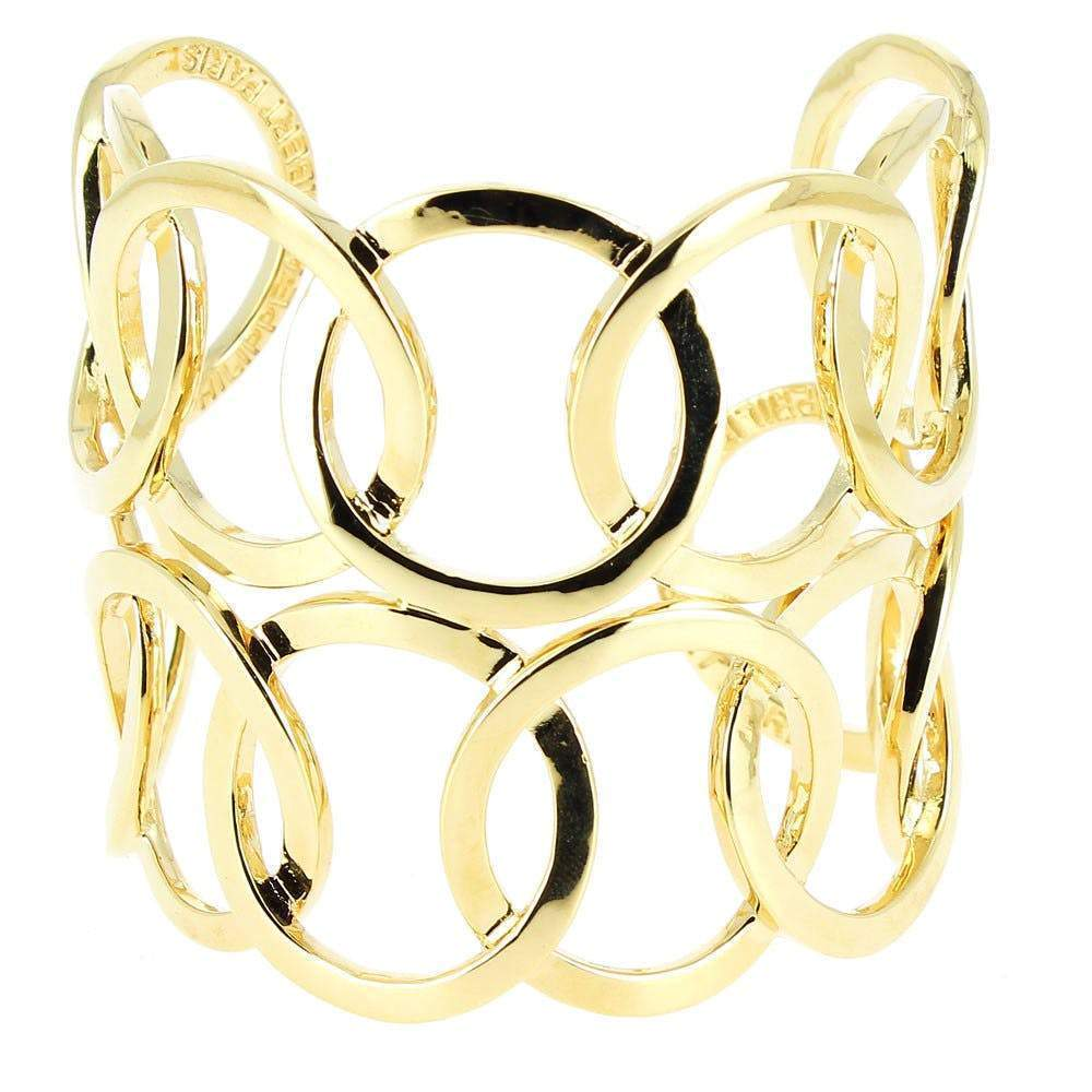 Philippe Audibert Double Colombus Gold Cuff Bracelet Jewelry Philippe Audibert