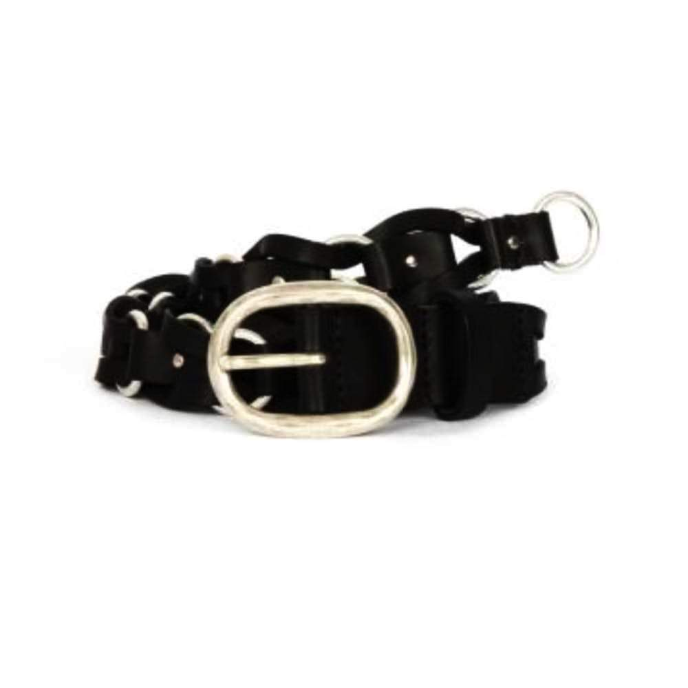 Rag & Bone Mason Woven Black Belt Belt Rag & Bone