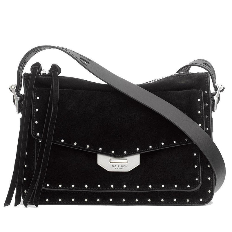 Rag & Bone Studded Small Black Field Messenger Handbag Handbag Rag & Bone