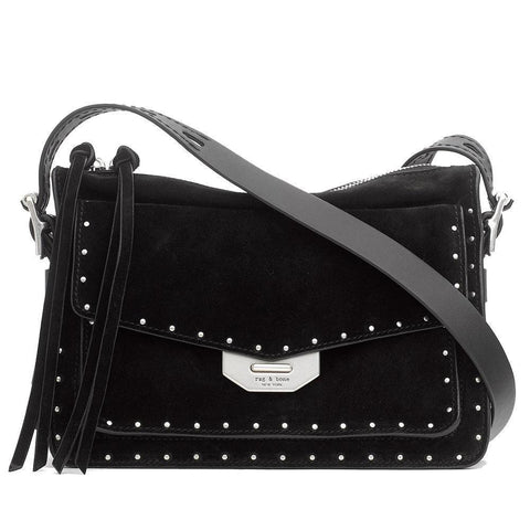 Rag & Bone Handbag Handbag / S / Black Rag & Bone Studded Small Black Field Messenger Handbag