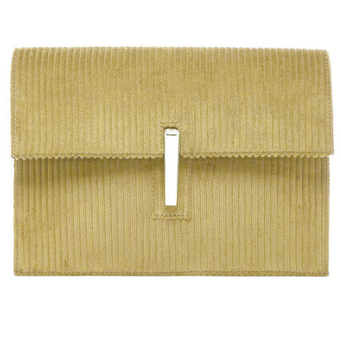 Rag & Bone Handbag MEDIUM / CORN / CLUTCH Hayward Corduroy and Leather Soft Clutch Crossbody