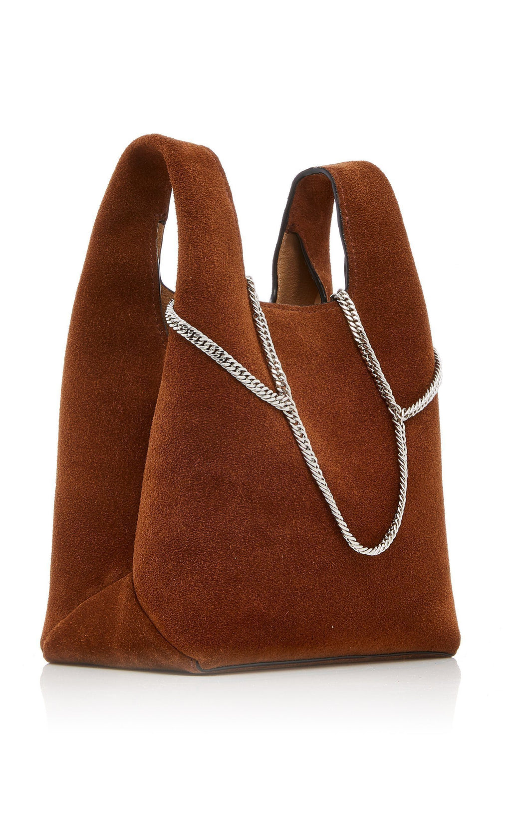 Hayward Brown Suede Mini Shopper on a Chain Handbag Hayward