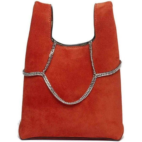 Hayward Red Suede Mini Shopper on a Chain