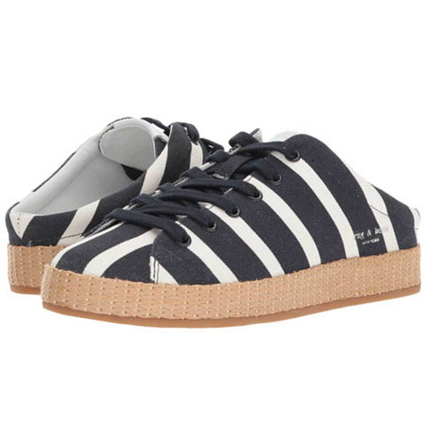 Rag & Bone Shoes 36.5 / White Rag & Bone RB1 Striped Mules