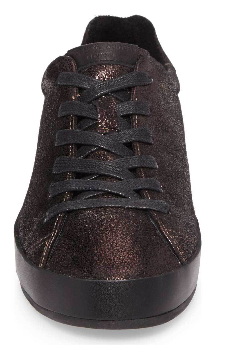 Rag & Bone RB1 Copper Metallic Lace Up Sneakers Shoes Rag & Bone