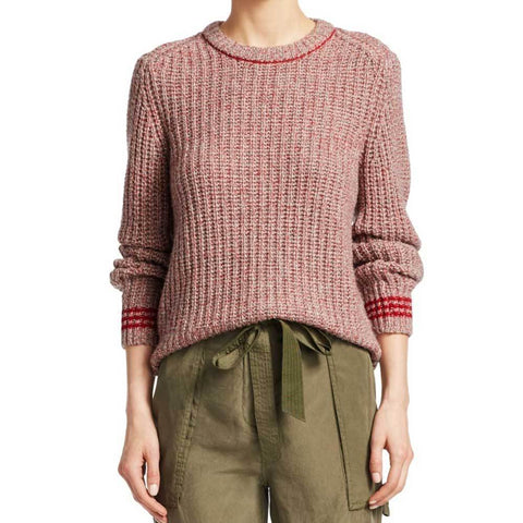 Rag & Bone Sweater M / Red Rag & Bone Cheryl Crew Neck Sweater