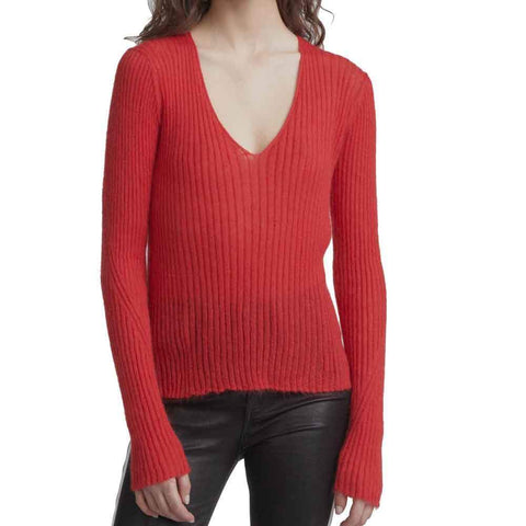 Rag & Bone Sweater S / RED Rag & Bone Donna V-Neck Sweater