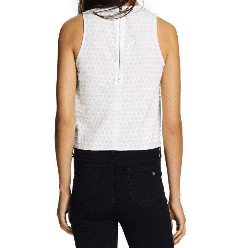 Rag & Bone Evie White Sleeveless Top Tops Rag & Bone
