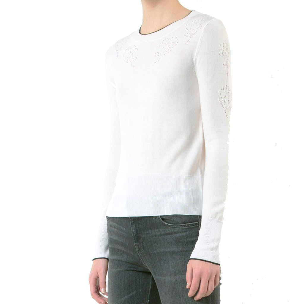 Rag & Bone Adriana Ivory Longsleeve Pullover tops S / Ivory Rag & Bone Adriana Pullover Fashion Trending Ivory Knit Knitwear Longsleeve Rag & Bone Rag and Bone Rag and Bone Jeans Collection tops $295.00 GordonStuart.com