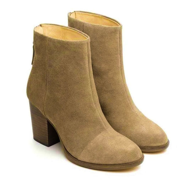 Rag & Bone Ashby Ankle High Stone Suede Block Heel Boot Boots 37 / Beige Rag & Bone 200-300 Ashby Ankle Boot Block Heel Boot Fall Fashion grey Rag & Bone Rag and Bone Sale shoes Stone Suede $262.50 GordonStuart.com