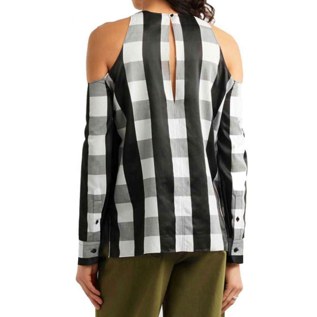Rag & Bone Collingwood Gingham Top Tops S / Blk/White Rag & Bone Black and White Cold Shoulder Cold Shoulder Top Collingwood Top Gingham Top Longsleeve Rag & Bone Rag & Bone Collingwood Top Rag and Bone Rag and Bone Jeans Collection Spring Fashion Spring Style Summer Fashion Summer Style Top $375.00 GordonStuart.com