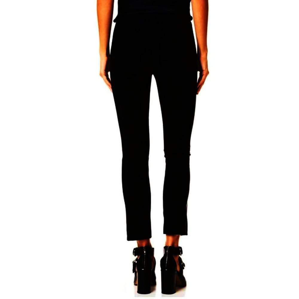 Rag & Bone Dani Black Pants with Leather Panels Pants 6 / Black Rag & Bone black Dani Leather Pants Danni Pants Everyday Fall Fashion Holidays Leather Pants pants Rag & Bone Rag and Bone sale Winter Fashion $197.50 GordonStuart.com