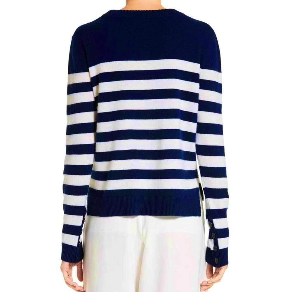 Rag & Bone Lillian Navy Stripe Cashmere Crew Sweater Sweater S / Navy Rag & Bone cashmere Lillian Cashmere Sweater Lonesleeve Navy Stripe Rag & Bone Rag and Bone Rag and Bone Jeans Collection Sale $136.00 GordonStuart.com