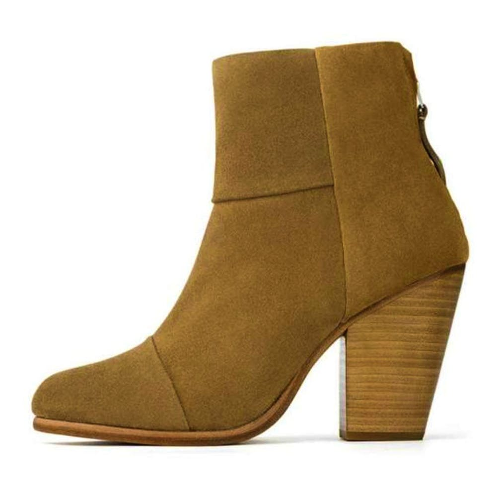 Rag & Bone Newbury Ankle High Camel Suede Block Heel Boot Boots 37 / Camel Rag & Bone 200-300 Block Heel Boot Camel Fall Fashion grey Italian Suede Newbury Booties Rag & Bone Rag & Bone Boots Rag and Bone Sale shoes $247.50 GordonStuart.com