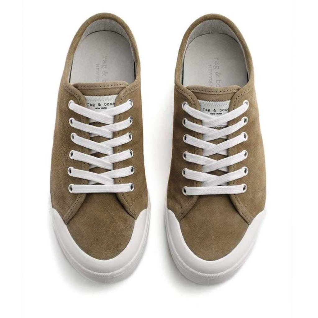 Rag & Bone Standard Issue Stone Suede Lace Up Sneaker Shoes 37 / Stone Suede Rag & Bone Fashion Lace-up Rag & Bone Rag and Bone Sneakers Standard Lace Up Sneakers Stone Suede Tennis Shoes $225.00 GordonStuart.com