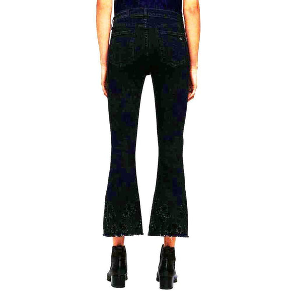 Rag & Bone/JEAN Embroidered Black Cropped Flare Jeans Jeans 27 / Black Rag & Bone 10 inch Bestseller Black Capri Cropped Jeans Embroidered Crop Flare Jeans Flare Jeans Jeans Rag & Bone Rag and Bone Rag and Bone Jeans Collection $350.00 GordonStuart.com